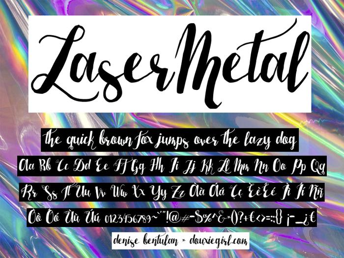 Laser Metal Font poster