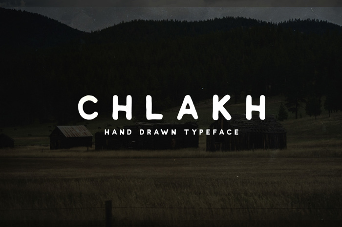 Chlakh Font poster