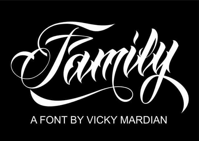 Anha Queen VMF Font poster