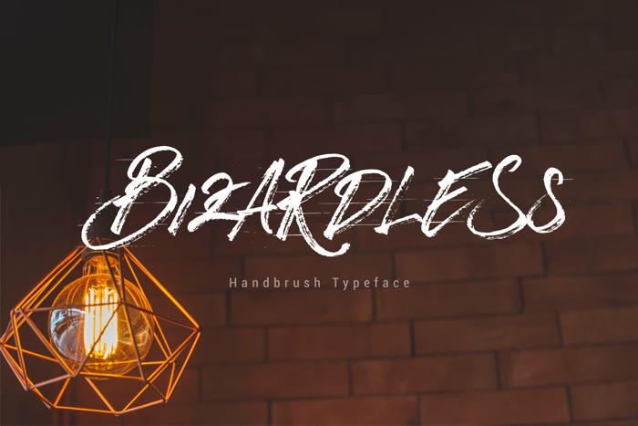 Bizardless Font poster
