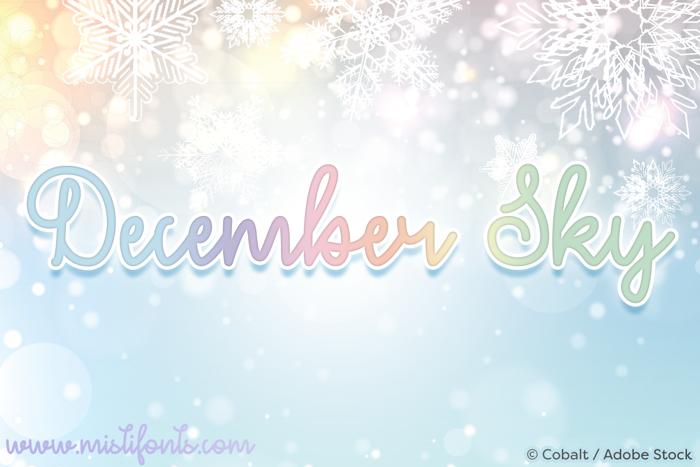 December Sky Font poster