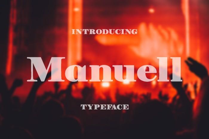 Manuell Font poster