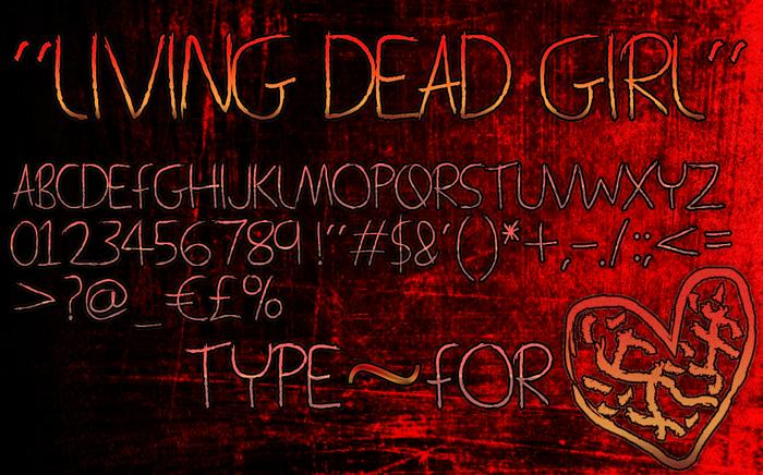 Living Dead Girl Font poster