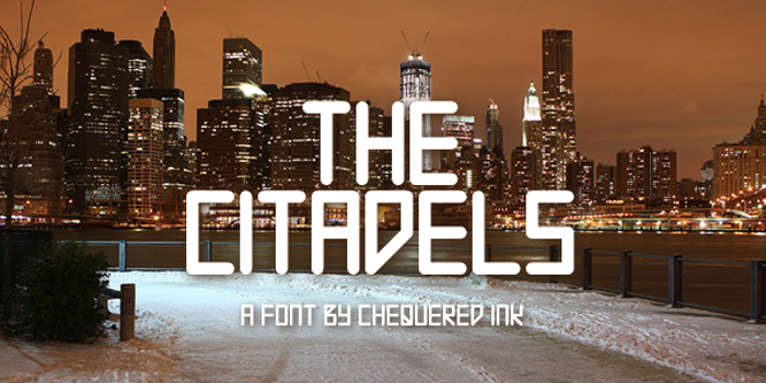 The Citadels Font poster