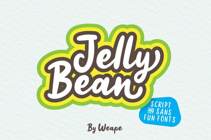 Jelly Bean Script Font poster