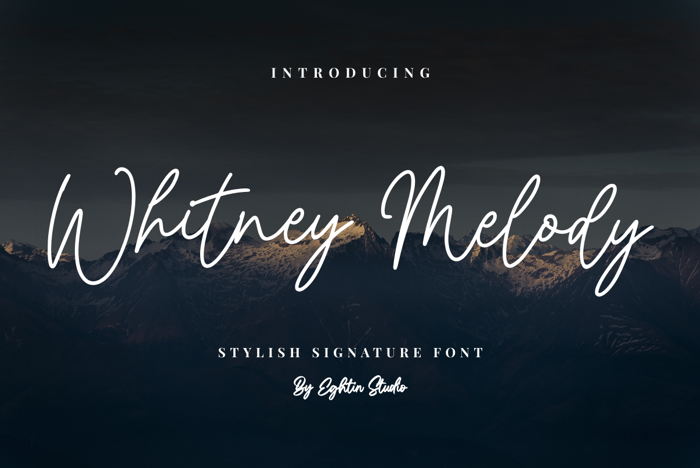 Whitney Melody Font poster