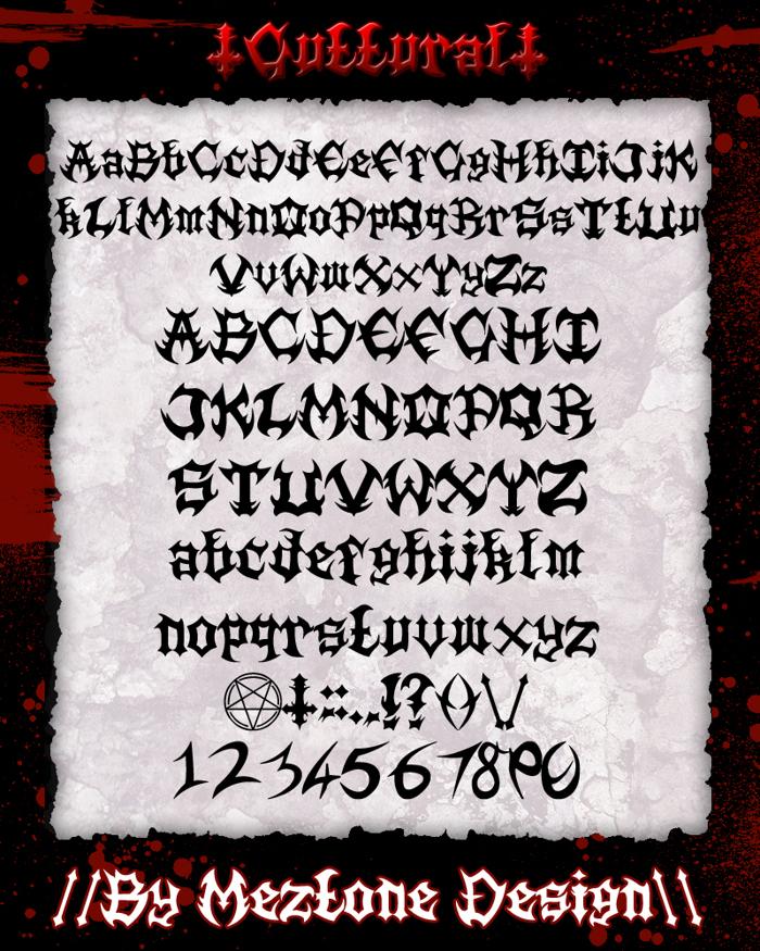 Guttural Font poster
