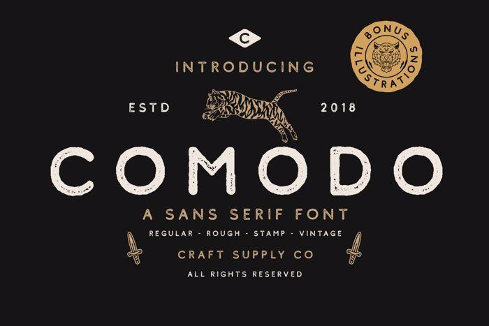 Comodo Font poster