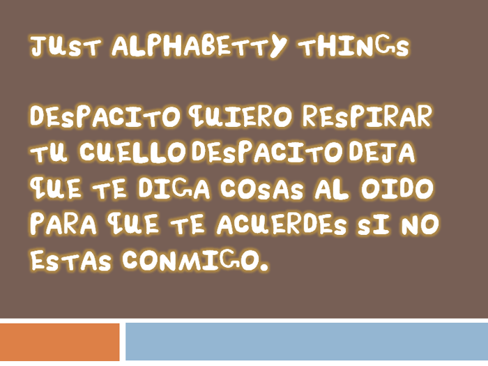 Just Alphabetty Thing! Font poster