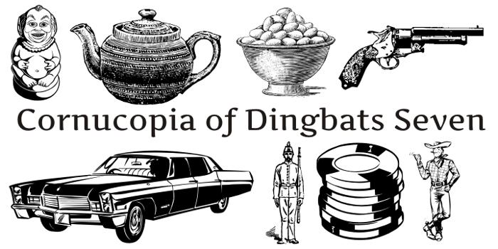 Cornucopia of Dingbats Seven Font