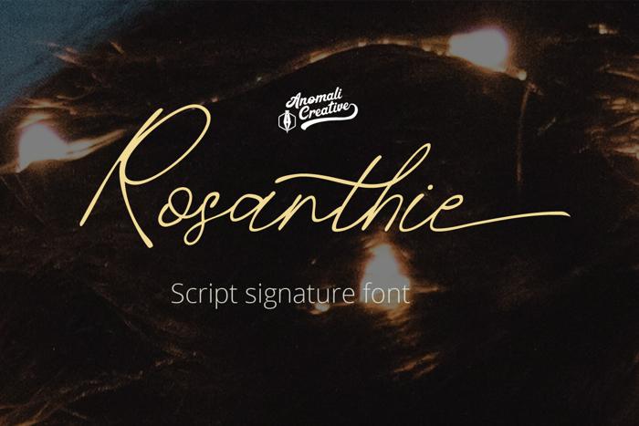 Rosanthie Font poster