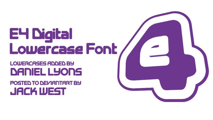 Digital Font poster
