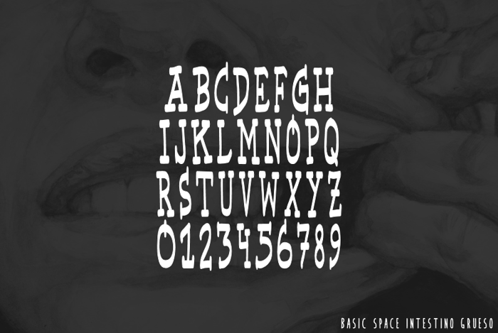 Basic Space Font poster
