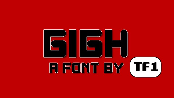 Gigh Font poster