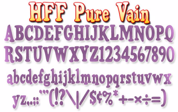 HFF Pure Vain Font poster