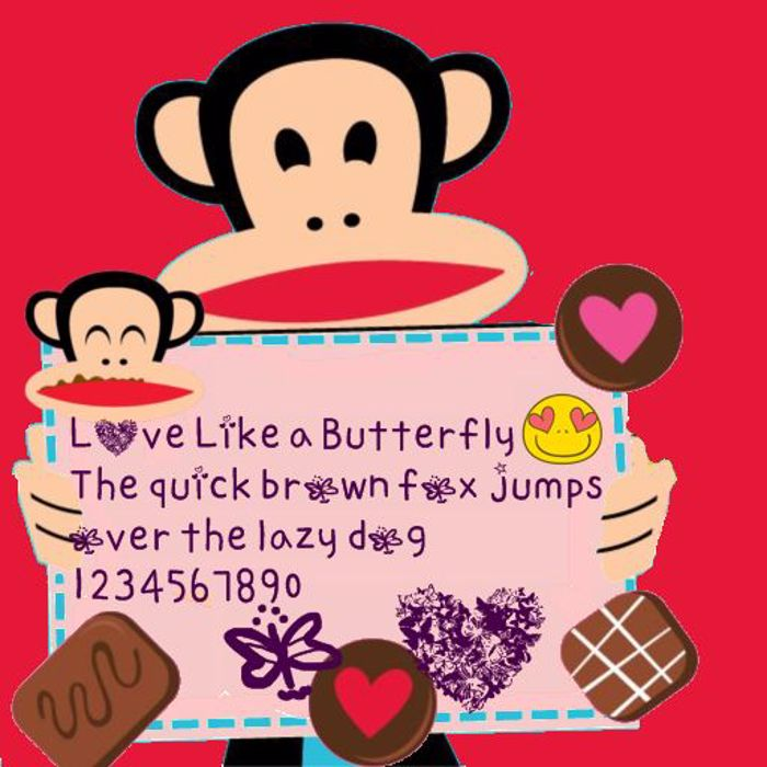 love like a butterfly by OUBYC Font