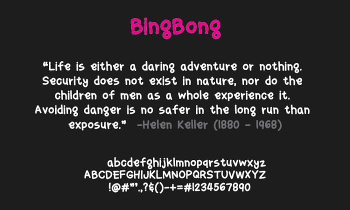 bingbong Font poster