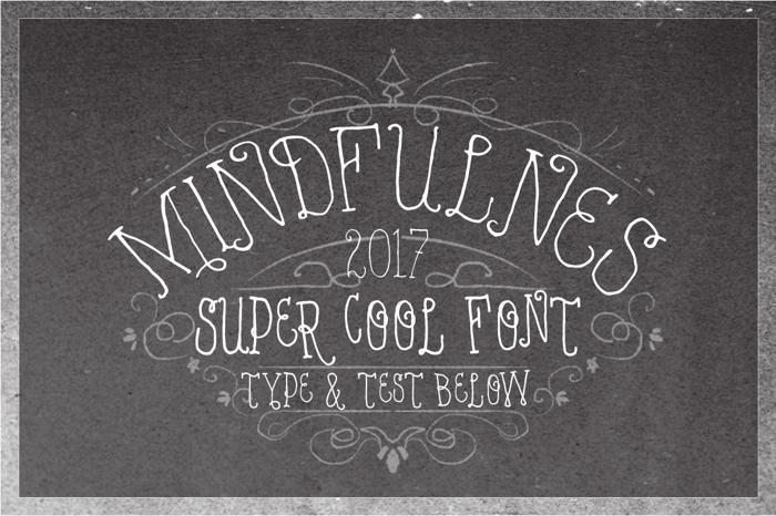 VTKS MINDFULNESS v2 Font poster