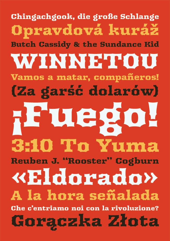 Arbutus Font poster