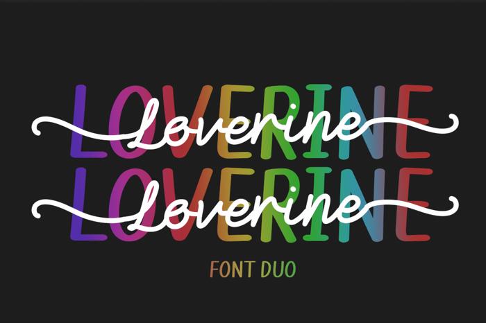 Loverine Font poster