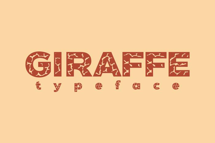 Giraffe Font poster