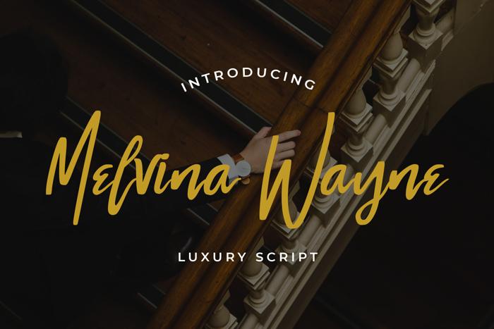 Melvina Wayne Font poster