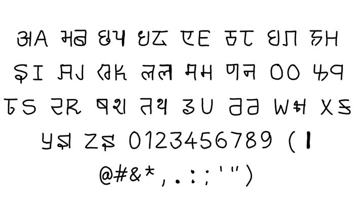 cyrillic hinglish Font poster