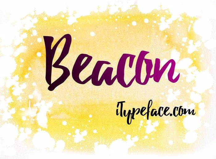 Beacon Font poster