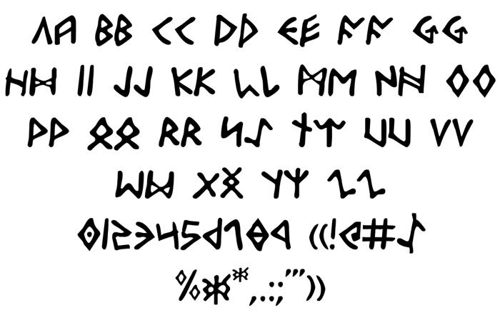 Odinson Font poster