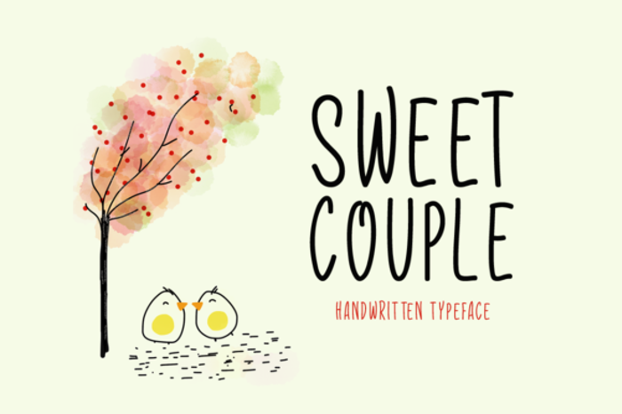 Sweet Couple Font poster
