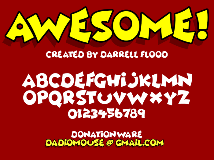 Awesome Font poster