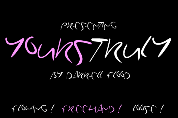 YoursTruly Font poster