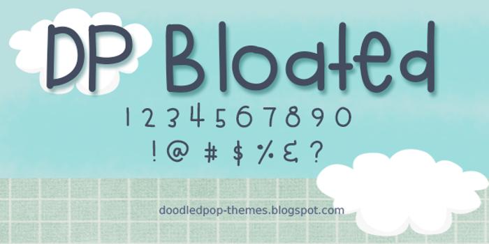 DPBloated Font poster