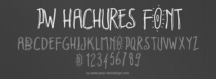 PWHachures Font poster