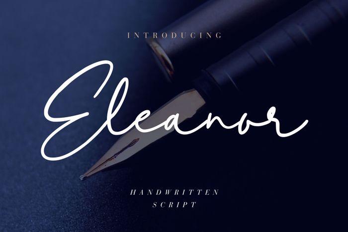 Eleanor Font poster