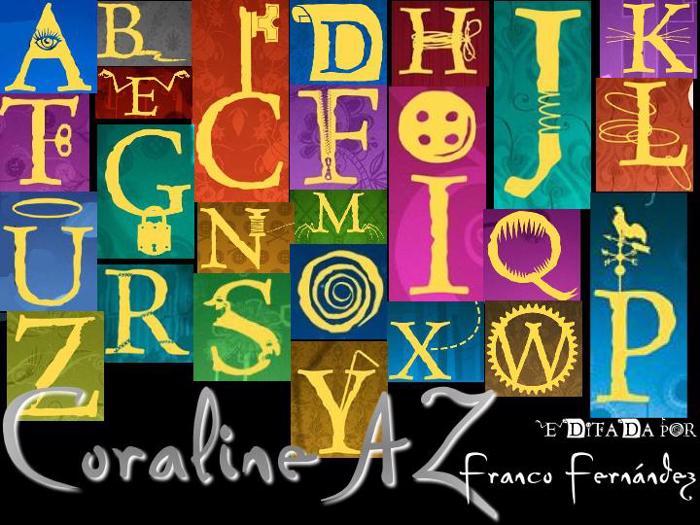 CoralineAZ Font poster