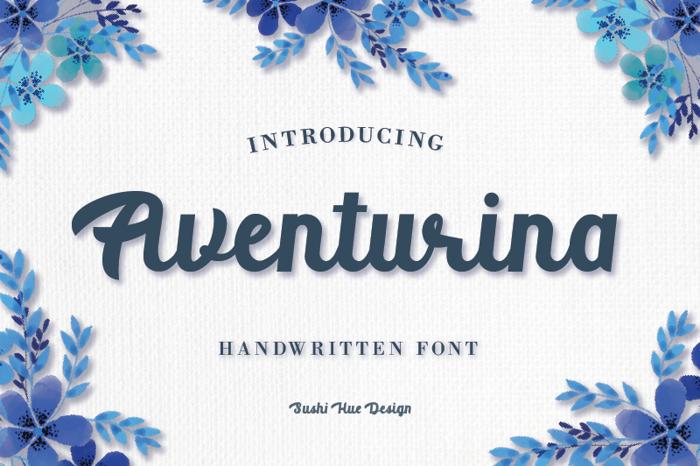 Aventurina Font poster