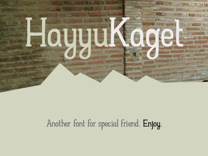 Hayyu Kaget Font