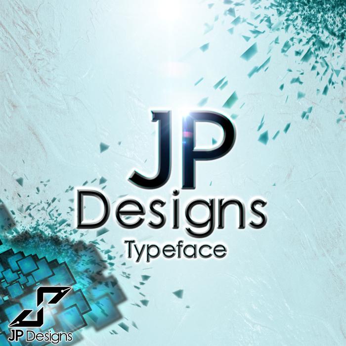 JP Designs Font poster