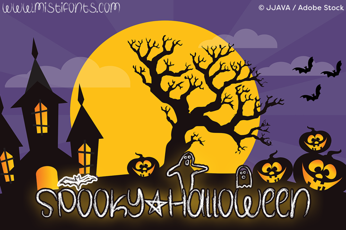 Spooky Halloween Font poster