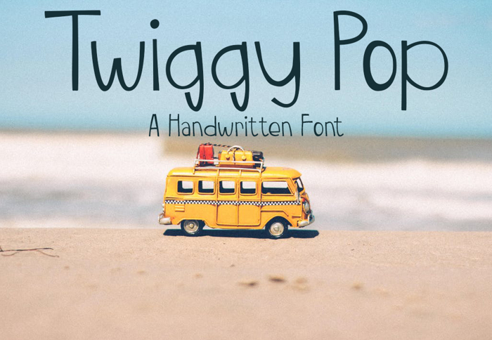 TwiggyPop Font poster