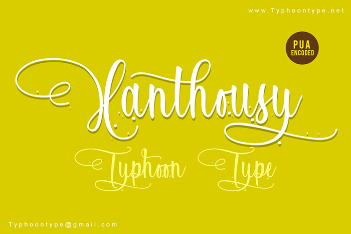 Xanthousy Font poster