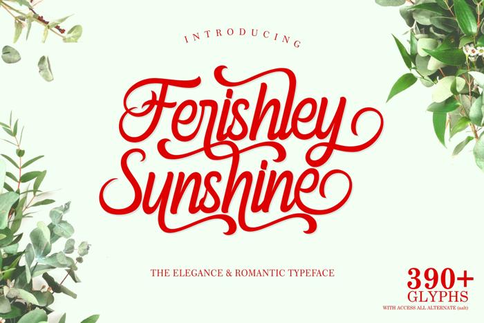 Ferishley Sunshine Font poster