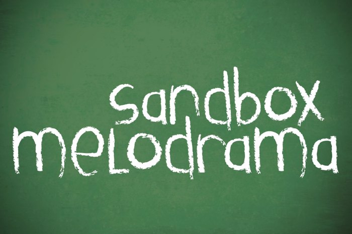 Sandbox Melodrama Font poster