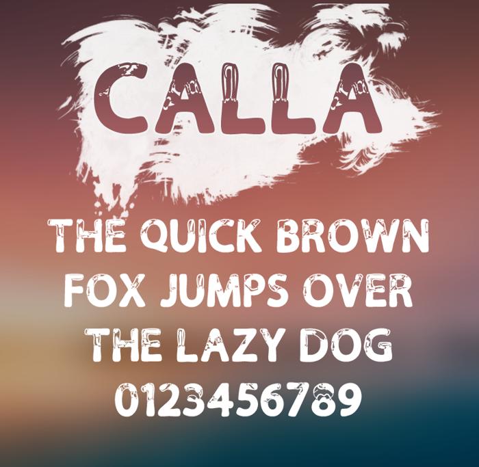 Calla Font poster
