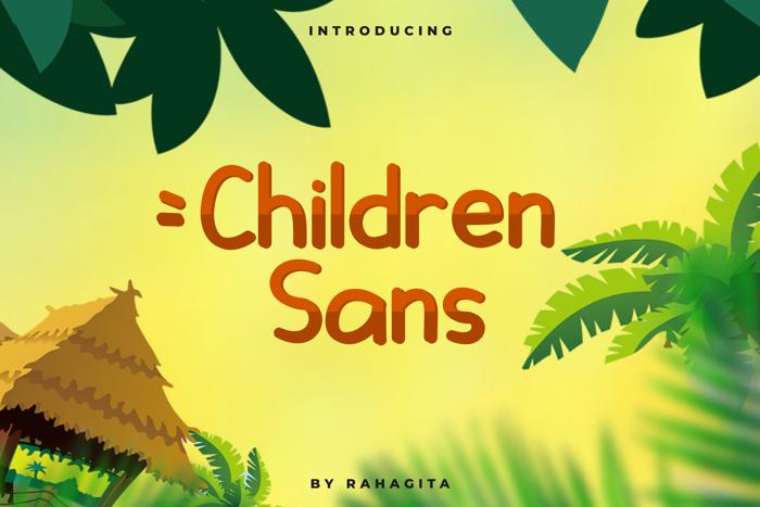 Children Sans Font poster