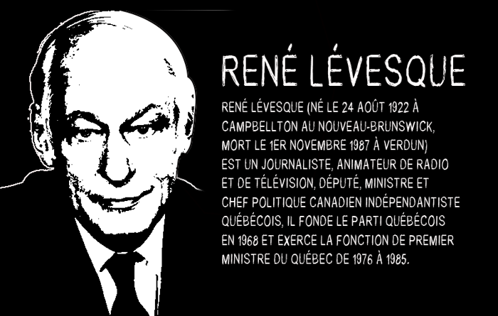 Rene Levesque Font poster