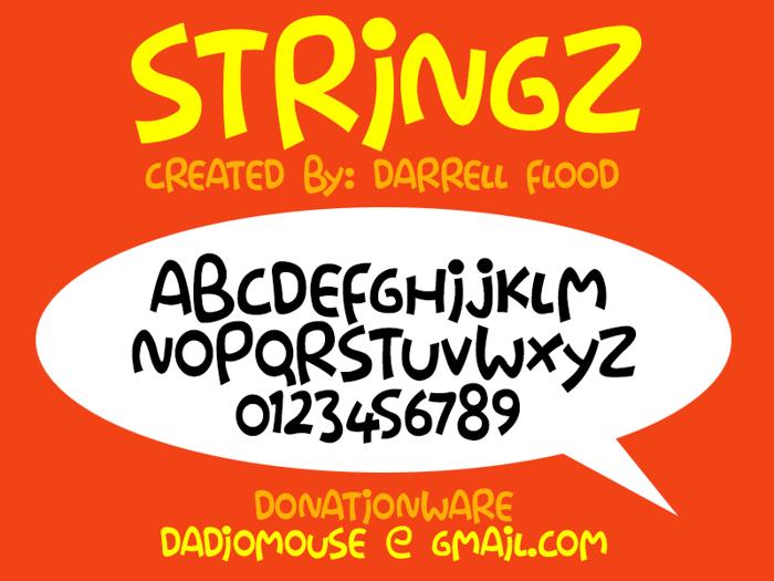 Stringz Font poster