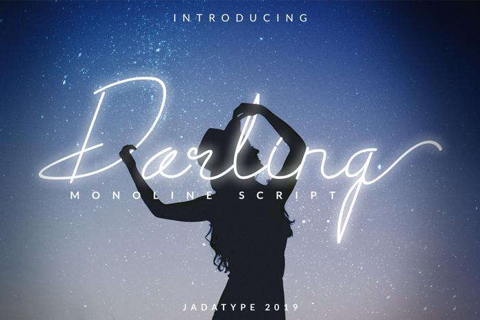 Darling Font poster