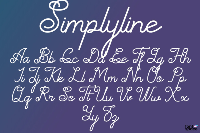 Simplyline Font poster